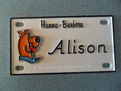 "Scooby-Doo Name Plates or Door Signs circa 1972   About 4"" x 2"""