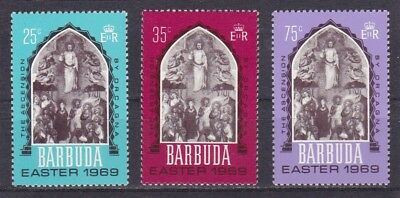 """Barbuda #33-35 Mnh """"the Ascension"""" By Orcagna"""