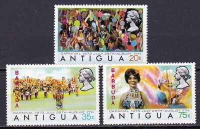 Barbuda #105-107 Mnh Carnival (Butterfly Costumes)