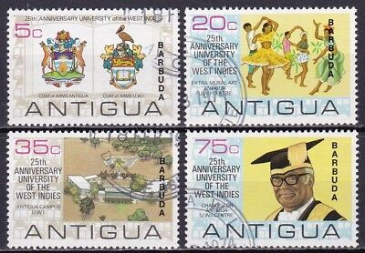 BARBUDA #138-141 USED 25th ANNIV. UNIVERSITY OF THE WEST INDIES