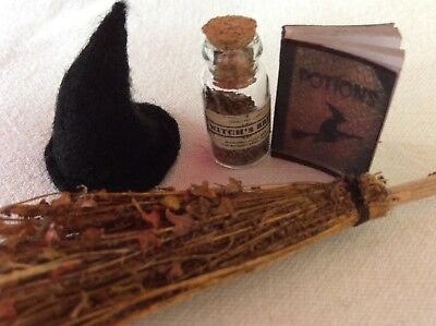 1:12 SCALE WITCH Apothecary Potion Shelf Display / Occult / Doll