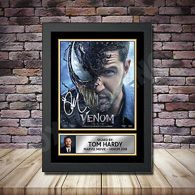 Tom Hardy Venom  Signed Movie Photo Print A4 A3 A2 A1 Autographed Framed Gift