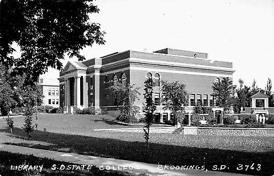 Brookings South Dakota 1950s RPPC Real Photo Postcard Library SD State College