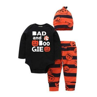 Infants Halloween Pumpkin Long Sleeve 3 pcs Set Size 0-24M (Free Shipping)