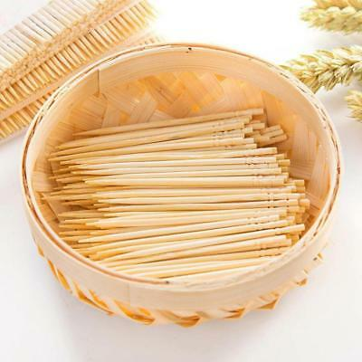 Wood Stick Bar Wooden Bamboo Toothpick Cocktail Snacks Picks about 200pcsG