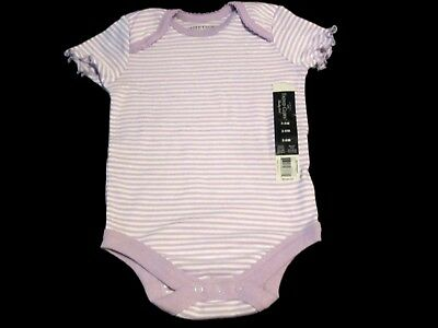 Baby Girls Faded Glory Purple/White Striped, one piece Size 3-6M NEW