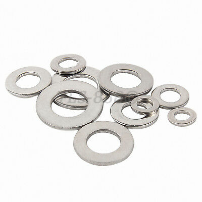 M3 to M20 Flat Washers To Fit Metric Bolts & Screws - A2 304 Stainless Steel