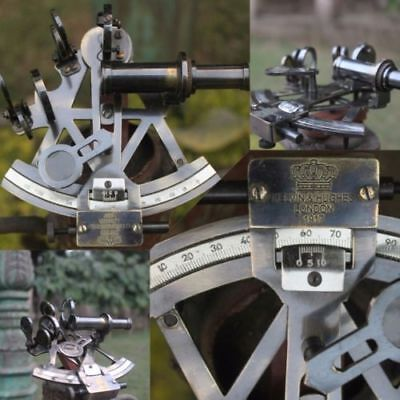 Nautical Solid Brass Sextant Vintage Marine Working Navy Sextant Ship Instrument