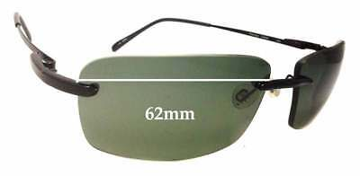 SFx Replacement Sunglass Lenses fits Serengeti Parma - 62mm Wide