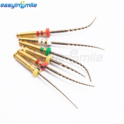 EASYINSMILE Endodontic Gold Rotary Endo Root Canal Files X3-PGAS Assorted 6files