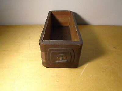 Antique Standard Sewing Machine Co. Wooden Drawer with Rotating Pull Knob