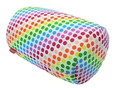 Rainbow Print Bead Kids Bed Roll Chair Home Cushion Soft Tube Throw Back Pillow