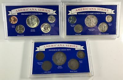 1892-1964 Americana Series US Silver Coins, Cent- Half Dollar 15 Different Coins