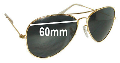 6fc6dcf9e6 SFX REPLACEMENT SUNGLASS Lenses fits Ray Ban RB8312 - 60mm wide ...