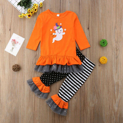 Toddler Girl's Halloween Ghost w/Leggings 2PCS Set Sizes 2-6T (Free Shipping)