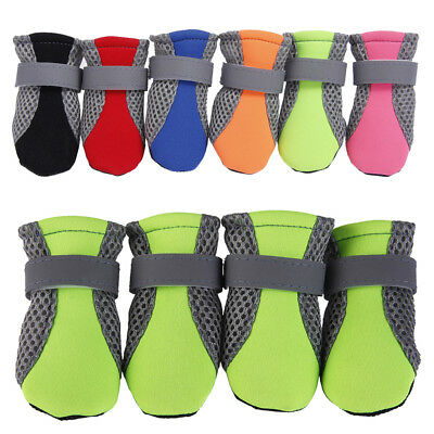 Small/Large Dog Shoes Boots Reflective No Slip Dog Booties Socks For Teddy Dogs