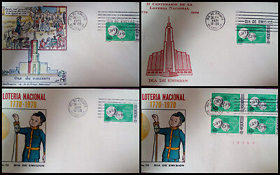 J) 1971 Mexico, Bicentennial Of The Foundation Of The National Lottery, Banda Re