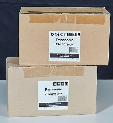 BRAND NEW Genuine Panasonic OEM ET-LAD7500W Replacement Lamps (2 Lamps) IN BOX