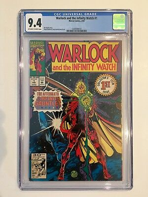 Warlock and the Infinity Watch #1 (1992) CGC 9.4 Infinity Gauntlet Aftermath