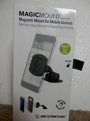 Magicmount *magdv-Xtsp1* Magnetic Mount For Mobile Devices Dash & Vent