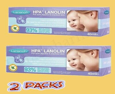 Lansinoh HPA Lanolin Cream 40ml—2 Pack