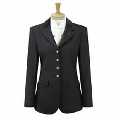 "Caldene Competition Jacket Claremont Ladies Black - Size 36"" - Cal3304"