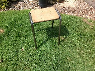 Vintage Steel And Wooden Stool......
