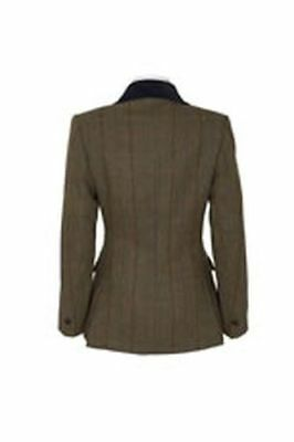 "Caldene Ss18 Tex Competitionjacket Silverdale Tweed Brown - Maids 30"" - Cal3458"