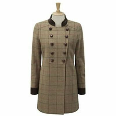 Caldene Country Coat Rosedene Military Tweed Sage - Size 14 - Cal4213