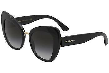 bc5f6d81ad4 Dolce   Gabbana Women s D G DG4319 DG 4319 501 8G Black Cat Eye Sunglasses