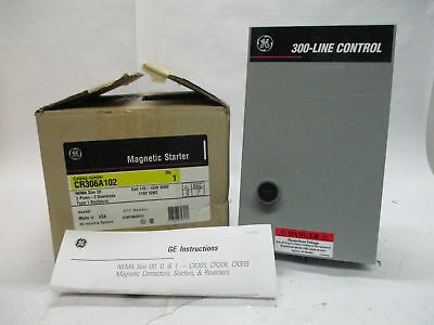 GE CR306A102 3 Pole Magnetic Starter w/ Type 1 Enclosure NEMA Size 00 115-120V