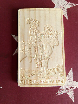 WOODEN CARVED TAROT Cards, The Tower - £9 79 | PicClick UK