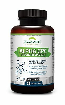 Alpha GPC Choline | 75 Veggie Capsules | 600 mg per Serving | Pharmaceutical ...
