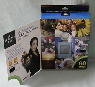 The Sharper Image Digital Photo Album With Key Chain Holds 60 images NIB
