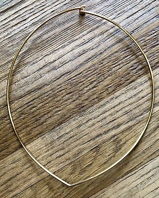 VTG JOAN RIVERS Gold Tone Hard Wire Necklace Choker