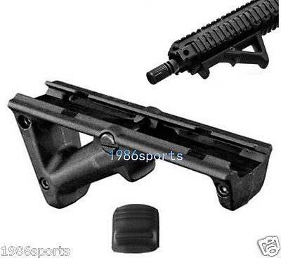 """Black Angled Foregrip 4.75"""" Front Hand Guard Front Grip for Picatinny Quad Rail"""