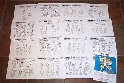 THE JETSONS NEW ANIMATORS' MODEL SHEETS HANNA BARBERA Artist Reference Guide