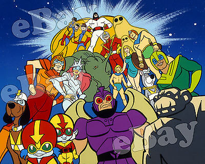 EXTRA LARGE! SPACE STARS Poster Print HANNA BARBERA Space Ghost HERCULOIDS
