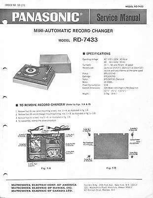 service manual panasonic rd 7683 automatic record changer 5 00 rh picclick com Maintenance Manual agilent 7683 autosampler service manual