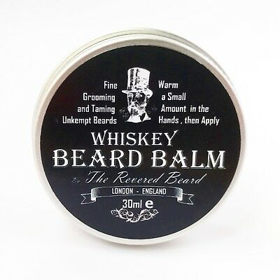 30ml Whiskey Beard Balm by Revered Beard Premium Quality Taming & Styling Butter