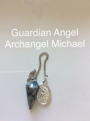 Code 866 Guardian Angel Archangel Michael Lace Agate Infused pendulum Buy 1 Only