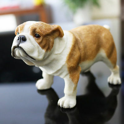 Resin MINI English Bull Terrier Dog Hand Painted model Statue Pet Lovers Gift