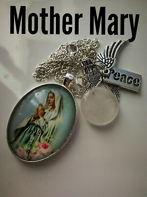 Code 351 Peace with Mother Mary infused Necklace Doreen Virtue Practitioner