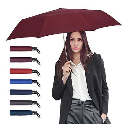 Auto Open and Close High Windproof Lightweight Unbreakable Compact Umbrellas