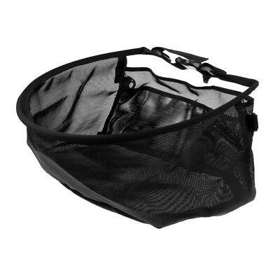 Fly Fishing Line Stripping Basket Mesh Case Adjustable Waist Bag with Pocket