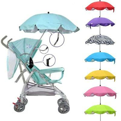 Kids Baby Sun Umbrella Parasol Buggy Pushchair Pram Stroller Shade Canopy Covers