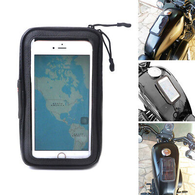 Motorcycles Magnetic Oil Tank Bag Fuel Gas Bag Phones Holder Pouch Touch
