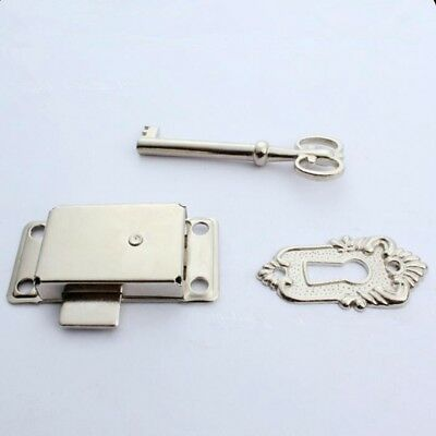 Vintage Classical Drawer Cabinet Wardrobe Cupboard Door Iron Lock + Key YG