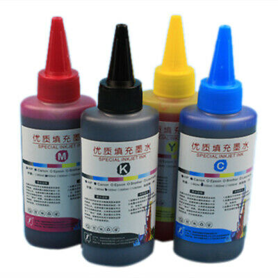 100ml Color Ink Cartridge Refill Replacement Kit For HP & Canon Series Printers