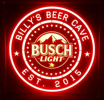 Custom Personalized Busch light led 12 x 12 Multi color LED Sign box with remote